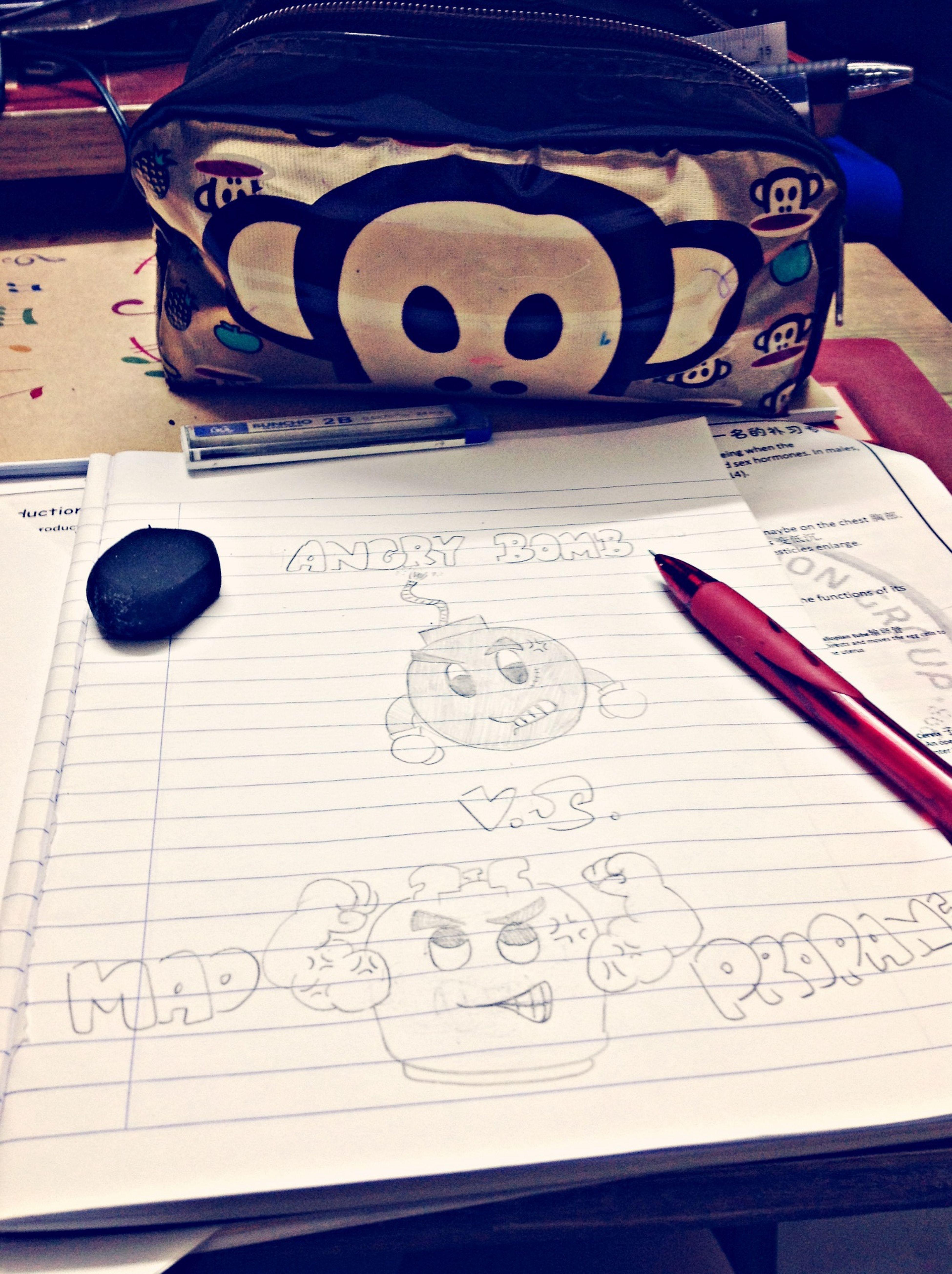 Boring while studying, so I draw this ahahaha. Angry Bomb V.S. Mad Propane