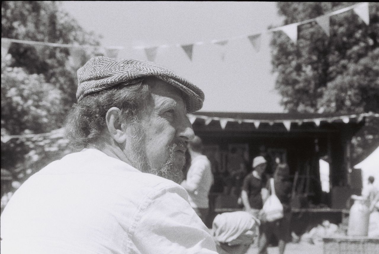 Portrait Real People Casual Clothing Sunny Day Festival Analog Camera Blackandwhite Analogue Photography Film