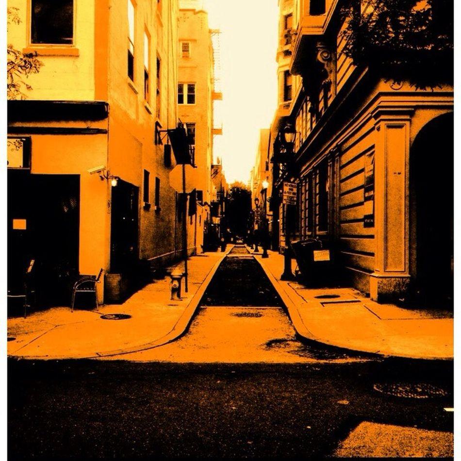 Street Photography Orange Composition