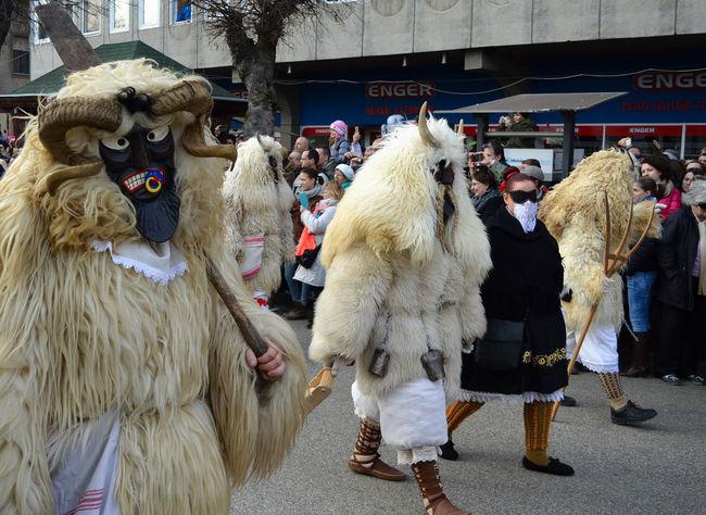 Winter Festival Busójárás Mohács Chasing Away Winter Busojaras Busó Mohács People Together Spring Festival