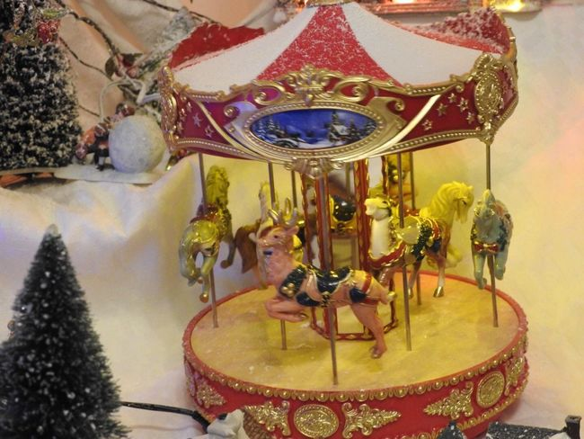 Christmastime Christmas Lights Christmas Ornament Christmas Decoration Amusement Park Horse No People Carousel Carousel Horses
