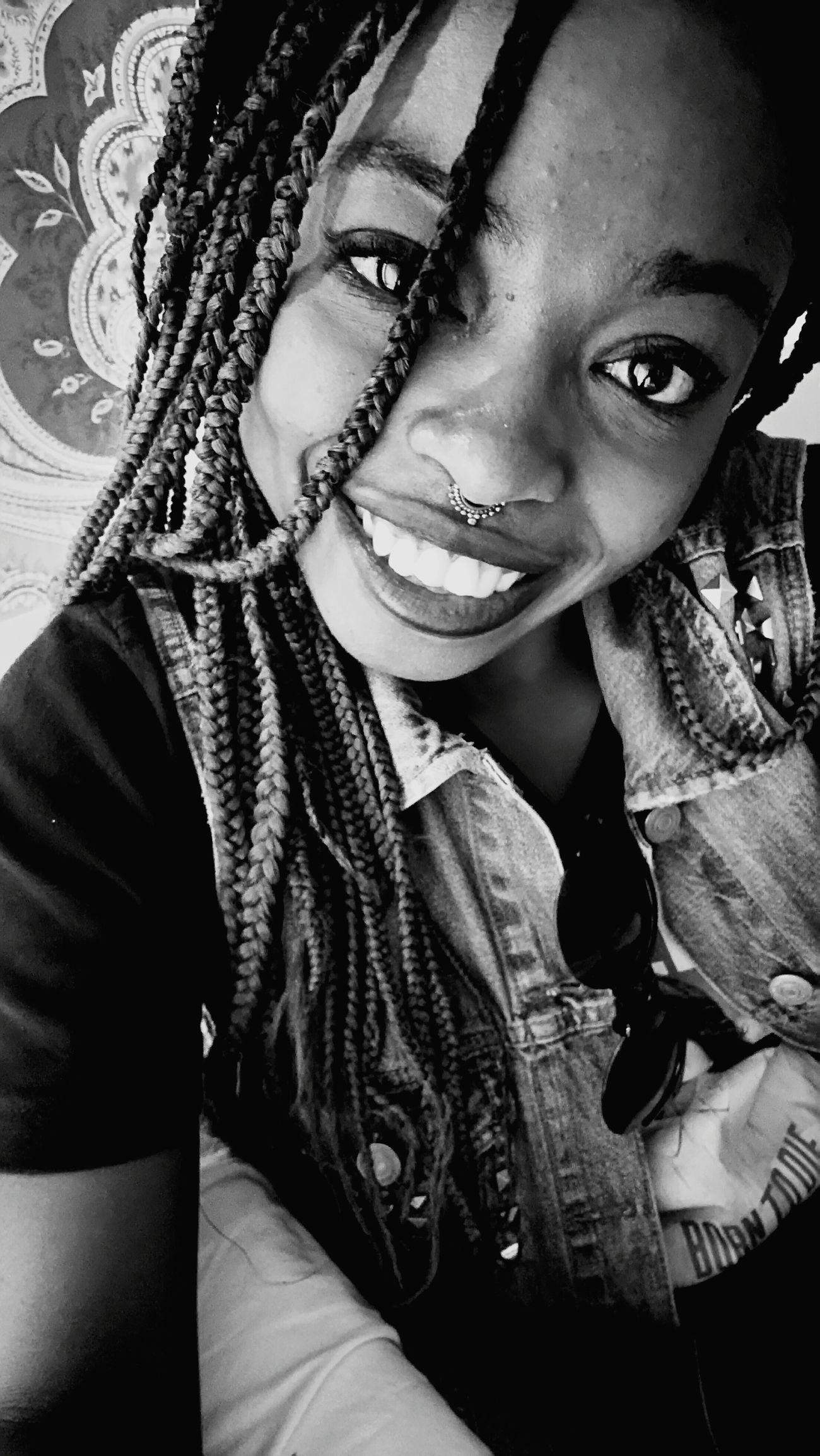 Shutupandsmile Beautiful People Braids <3 Black And White Happy That's Me Behappy:) Goodgirl