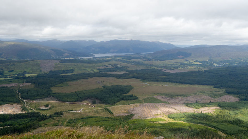 View From Aonach Mor Viewpoint To Loch Lochy Aonach Mor Loch Lochy Nevis Range Mountain Resort Scotland Beauty In Nature Cloud - Sky Day Fort William Landscape Mountain Nature No People Outdoors Scenics Sky Tranquil Scene Tranquility