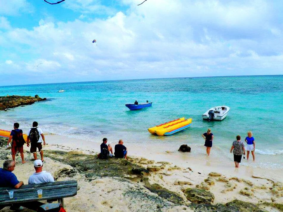 Sea Beach Outdoors Nautical Vessel Travel Destinations Sand Horizon Over Water Vacations People Large Group Of People Day Sun Surf And Sand Relaxing Blue Sky Water Fun In The Sun ☀ Ocean Caribbean Life Bahamas
