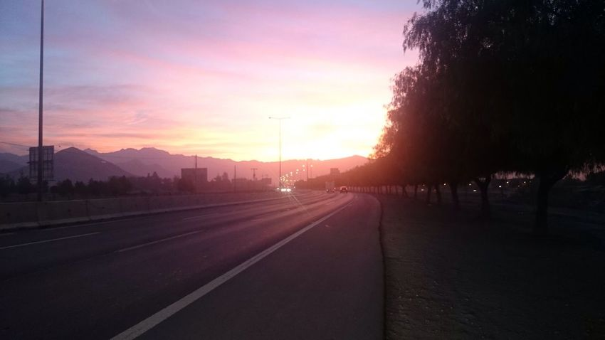 Sunset Road Transportation No People