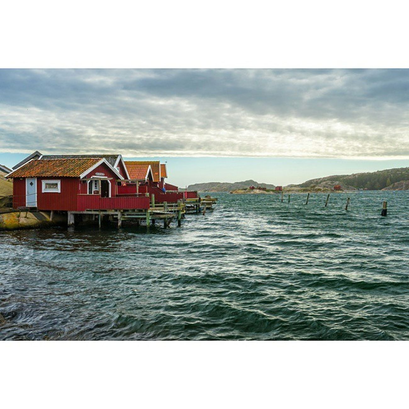 Huts Water Fjallbacka Sweden Sea Scandanavia Bohuslän Red Rsa_water Rsa_water_harbour