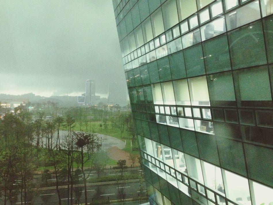 Architecture Window Day Rain Building Exterior Korea KINTEX