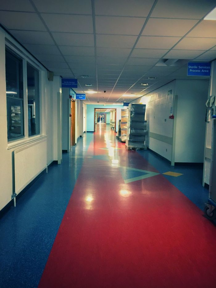 Indoors  Ceiling Illuminated No People The Way Forward Architecture Built Structure Empty Day Hospital Hospital Corridor Long Goodbye
