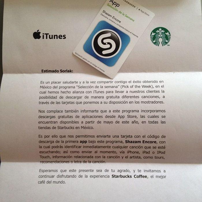Gracias por el detalle StarbucksMexico