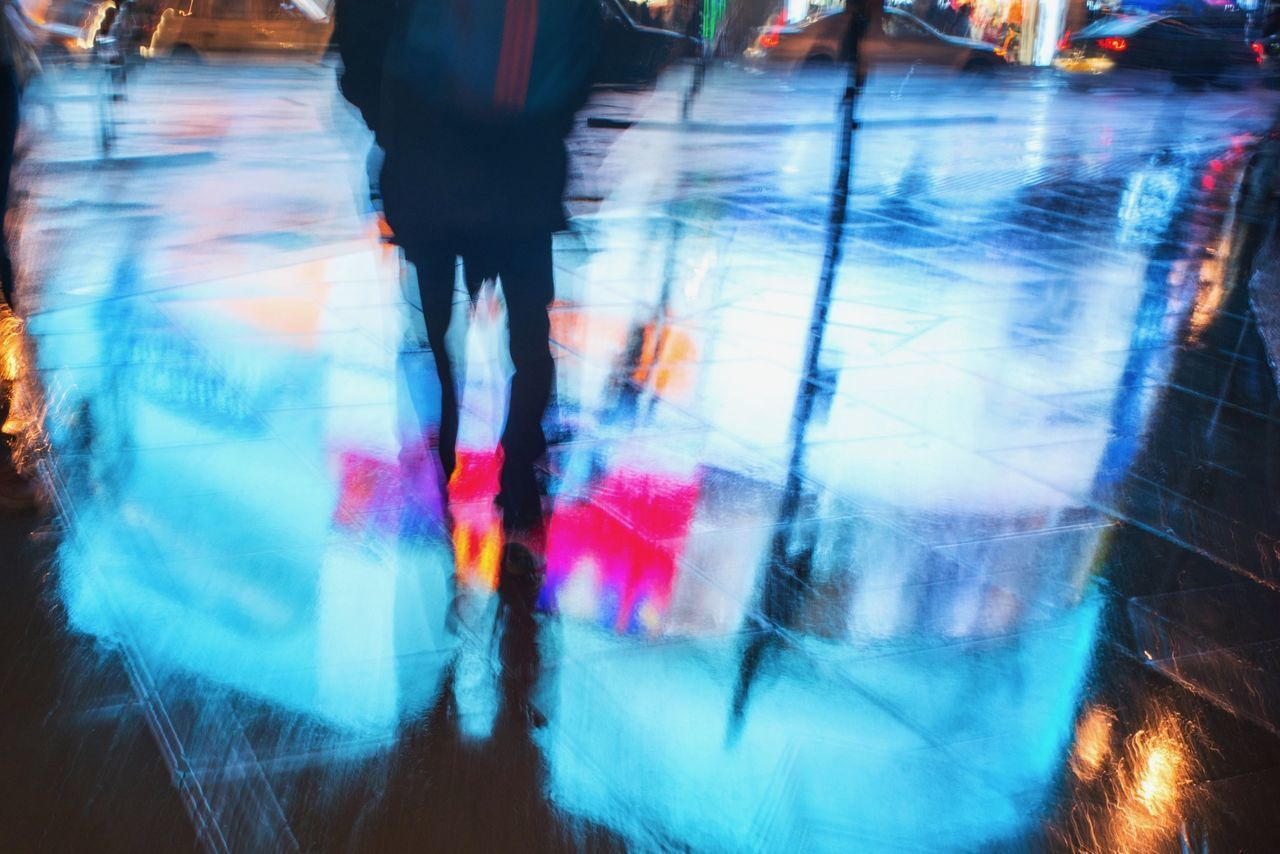 Blur Motion London Movement Photography Multi Colored Neon Lights Piccadillycircus Rain