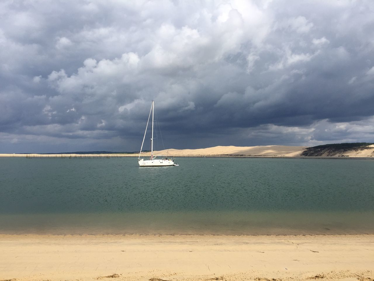 IPhoneography Mobile Photography Great Atmosphere Tourism Sea Life Ocean View Nature_collection Boat Gironde Clouds Beach Life Bassin D Arcachon Sand Dunes Sand Boat Trip Boatlife Boatinglife Watching Boats