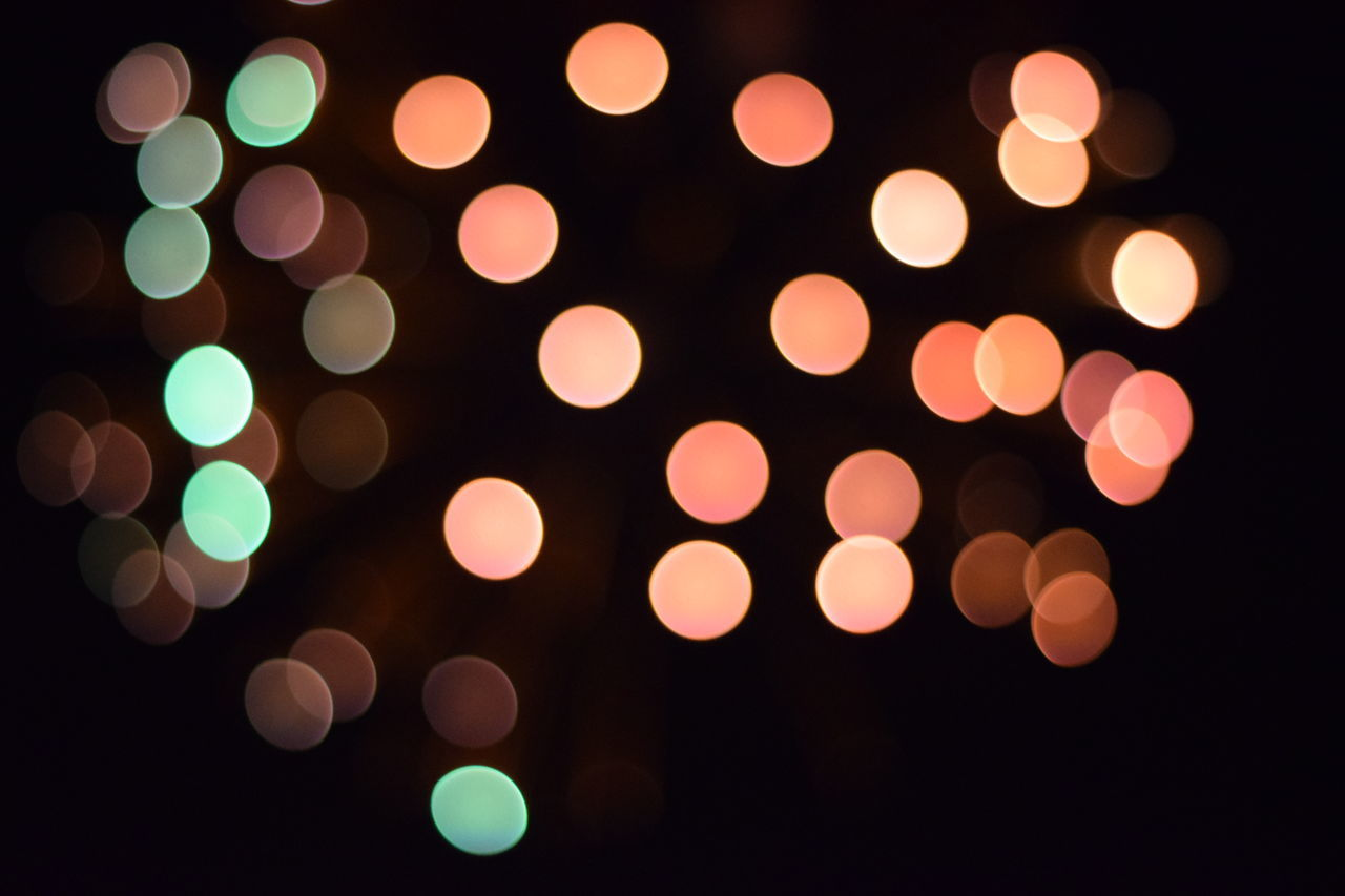 Bokeh Make-up Pattern Variation Night No People Close-up Black Background Outdoors Circle Defocused Outdoor Pictures Fireworks_collection Beauty In Nature Orange Color Be. Ready. EyeEmNewHere