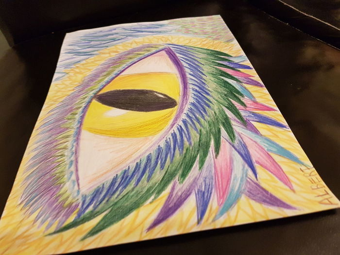 Multi Colored No People Close-up Nature Yellow Eye's Dragon Eye's Looking At You♡ Drawing Eye's Are Always Watching You Blue Green Color Taking Photos ArtWork Purple Flower Pattern Flower Head Creativity Orange Color