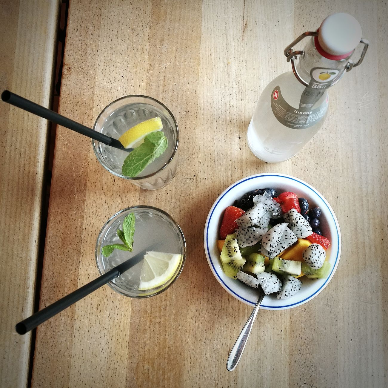 Drink Food And Drink Drinking Glass Bowl Fruit Freshness Healthy Eating Food Drinking Straw Refreshment No People Indoors  Serving Size High Angle View Chia Seed Ready-to-eat