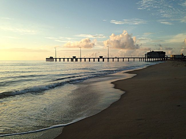 View of Jennette's Pier. OBX14 Water Beach Sunrise