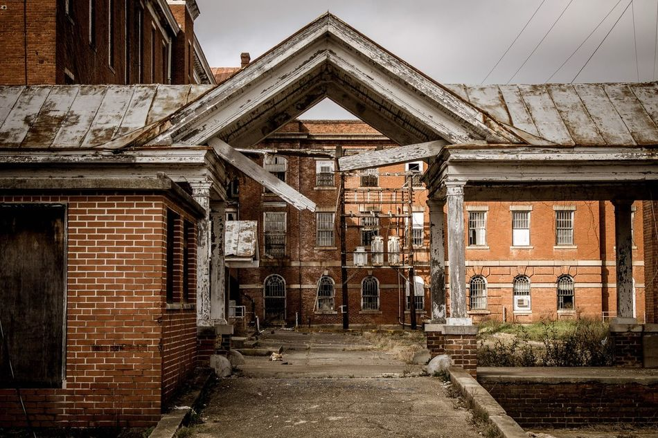 Abandoned Asylum Architecture Built Structure Building Exterior Abandoned No People Day Outdoors Decay Old Buildings Building Asylum Mental Hospital  The Secret Spaces