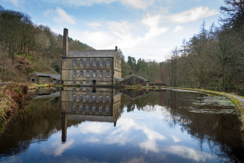 Gibson Mill, Hardcastle Crags, Yorkshire. Cotton Mill Landscape Mill Nature Outdoors Reflection Reflection Symmetry Tranquility Water