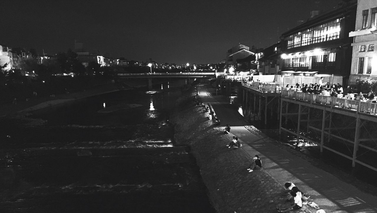 Kyoto Kyoto, Japan Kyoto City Kamogawa Kamogawa River Kawadoko Summer EyeEm Best Shots - Black + White Kawaramachi Gion Shijo-kawaramachi