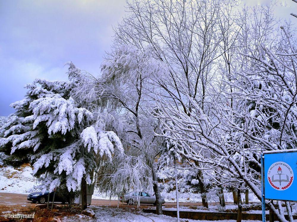 Kar kış fotoğraflarına devam