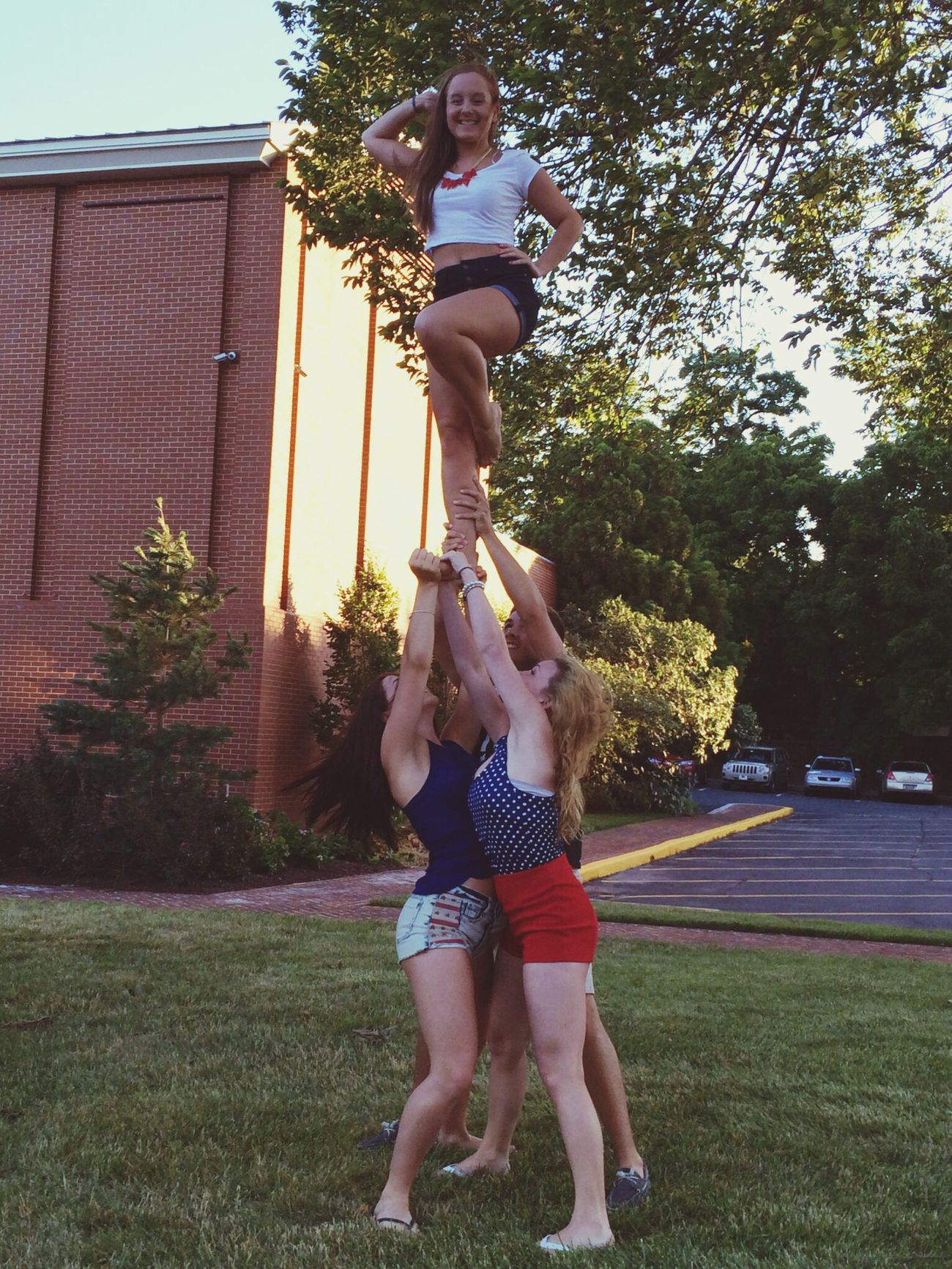 Stuntin' for 'merica ?? Cheerleading