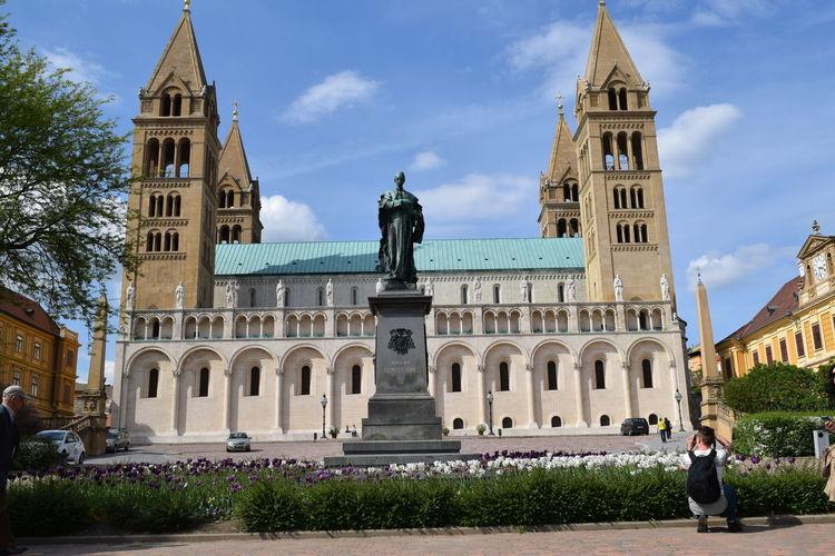 Cathedral Church EyeEm Gallery Low Angle View Pécs Religion Sculpture Spirituality Statue Sétatér