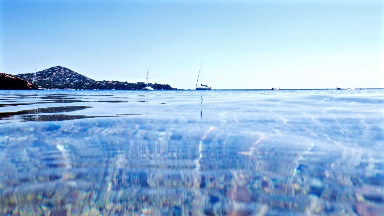 Sea, calm, boats, swim, water, island