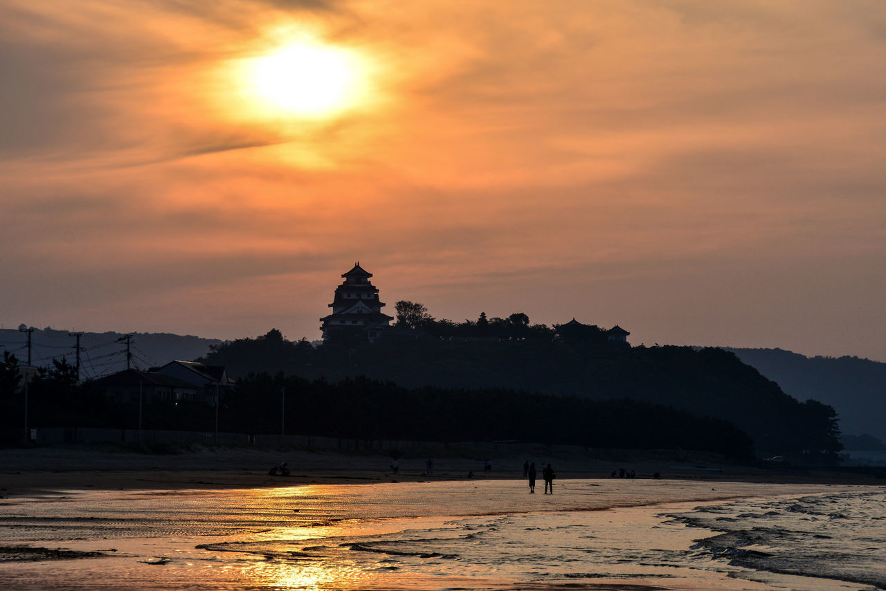 Karatsu Castle Landscape_Collection Landscape_photography Saga,Japan Sunset #sun #clouds #skylovers #sky #nature #beautifulinnature #naturalbeauty #photography #landscape Sunset_collection Water Reflections Water_collection