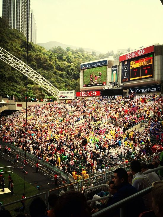 Having a blast at South Stand - Hong Kong Sevens Having A Blast