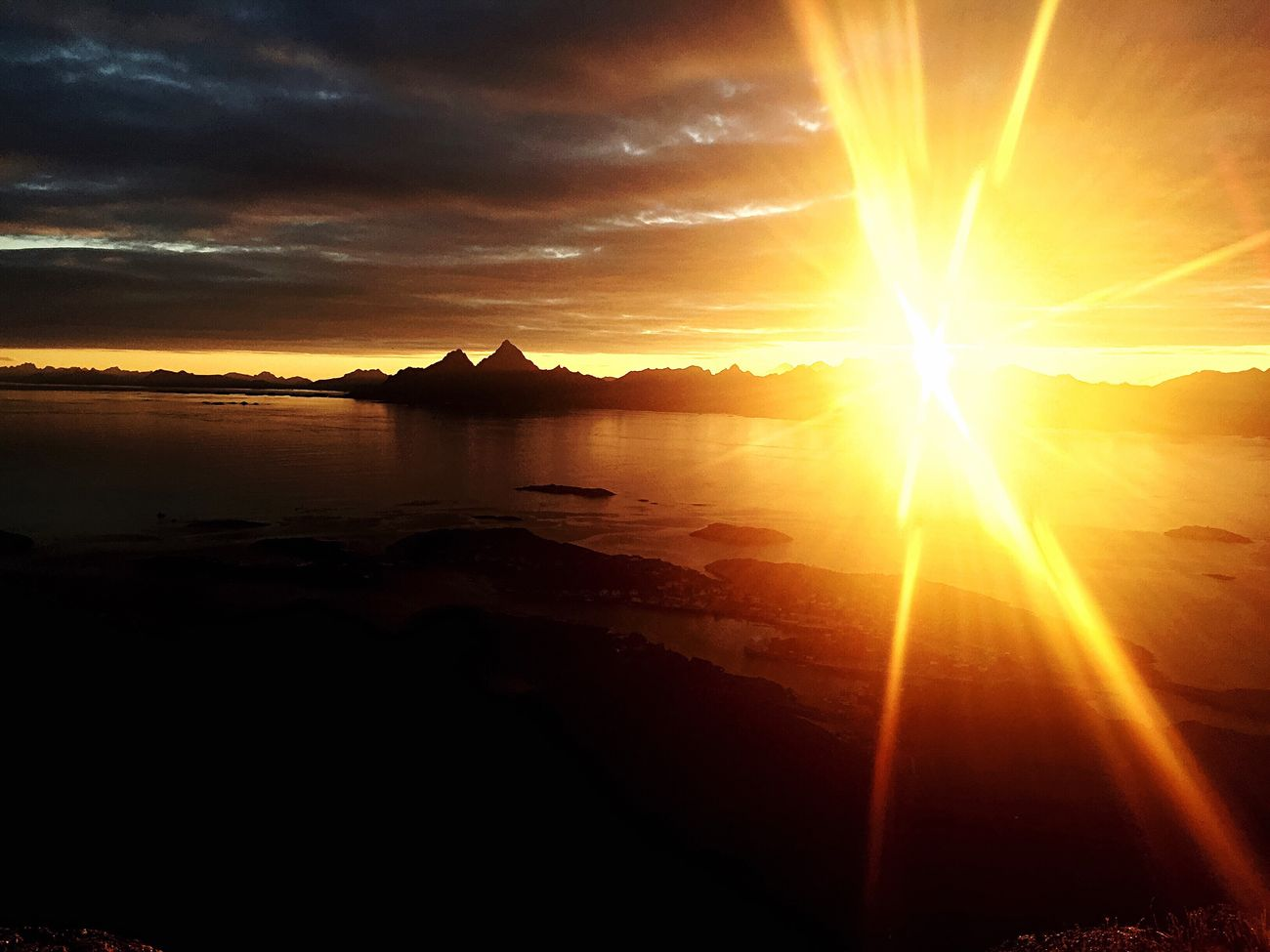 Sunset Sunset_collection Skrova Skrovafjellet Lofoten Lofoten Islands Lofoten Norway Beauty In Nature Nature Water Outdoors Dramatic Sky Landscape Shadows & Lights Contrast Norgeibilder Norway Nature Photography Nature On Your Doorstep Nature_perfection