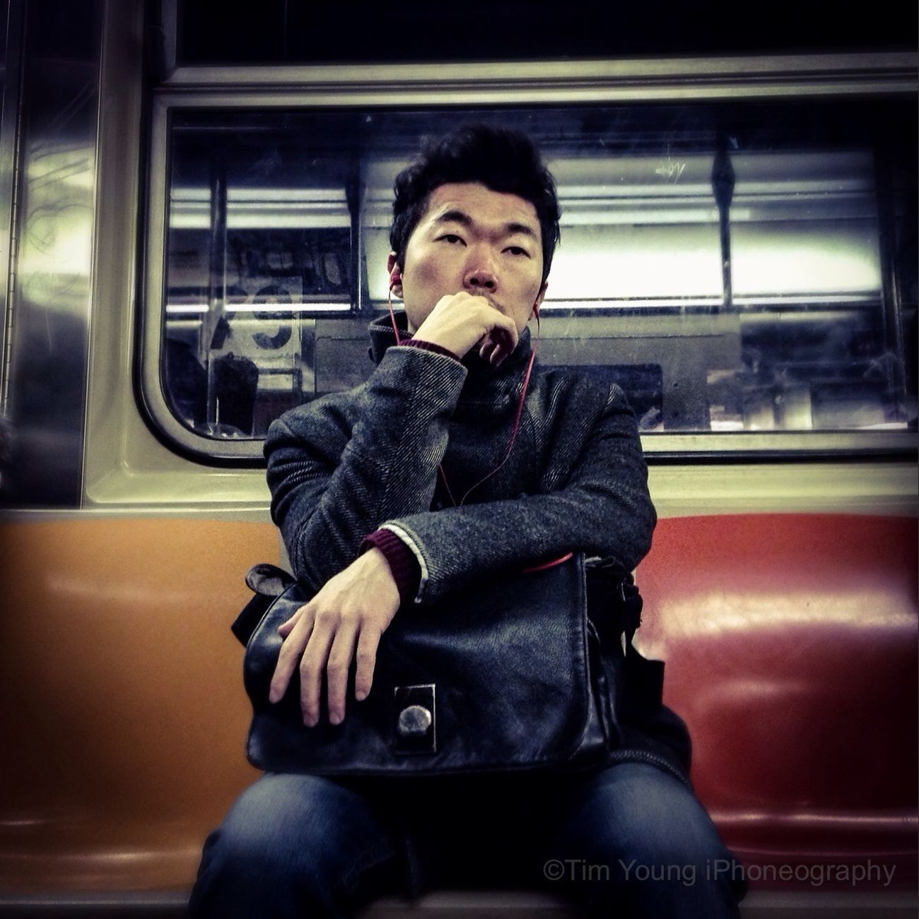 Through pride we are ever deceiving ourselves. But deep down below the surface of the average conscience a still, small voice says to us, something is out of tune -Carl Jung | 1 Train Mta Subway Timyoungiphoneography