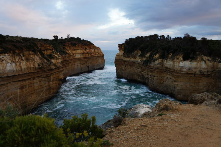 Australia Beauty In Nature Cliff Cloud - Sky Day Landscape Natural Arch Nature No People Outdoors Physical Geography Rock - Object Rock Formation Scenics Sea Sky The Great Ocean Road, Victoria Tranquil Scene Tranquility Water Been There. Done That.