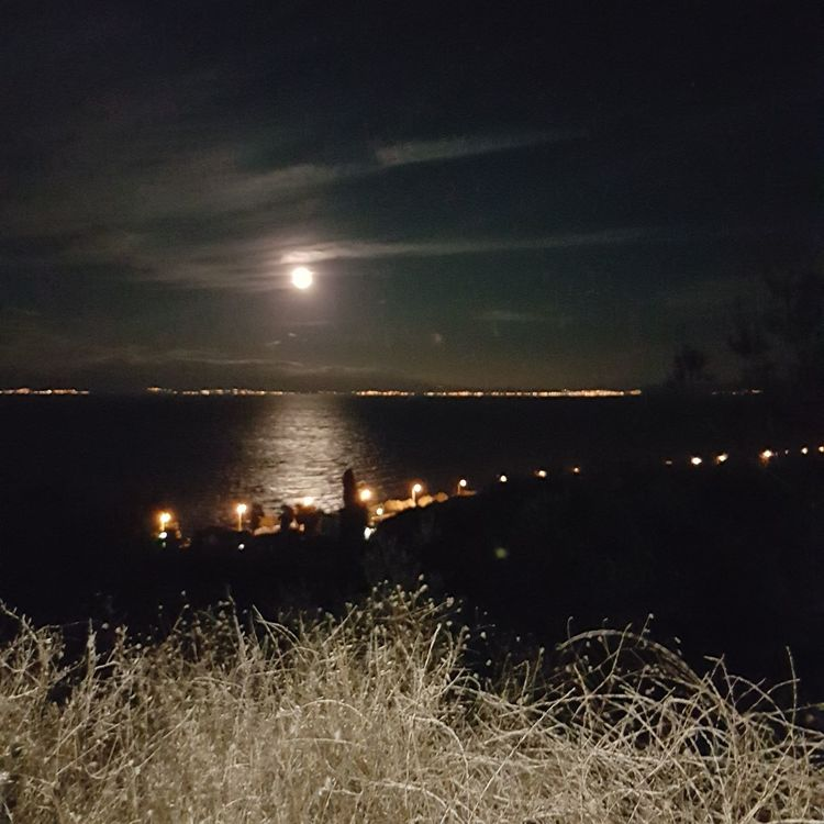 Lesvos Illuminated Night Star - Space Beauty In Nature No People Outdoors Sky Astronomy Nature Moon Galaxy Scenics Beauty In Nature Idyllic Horizon Over Water Tranquility Sea Calm Lesvos Greece