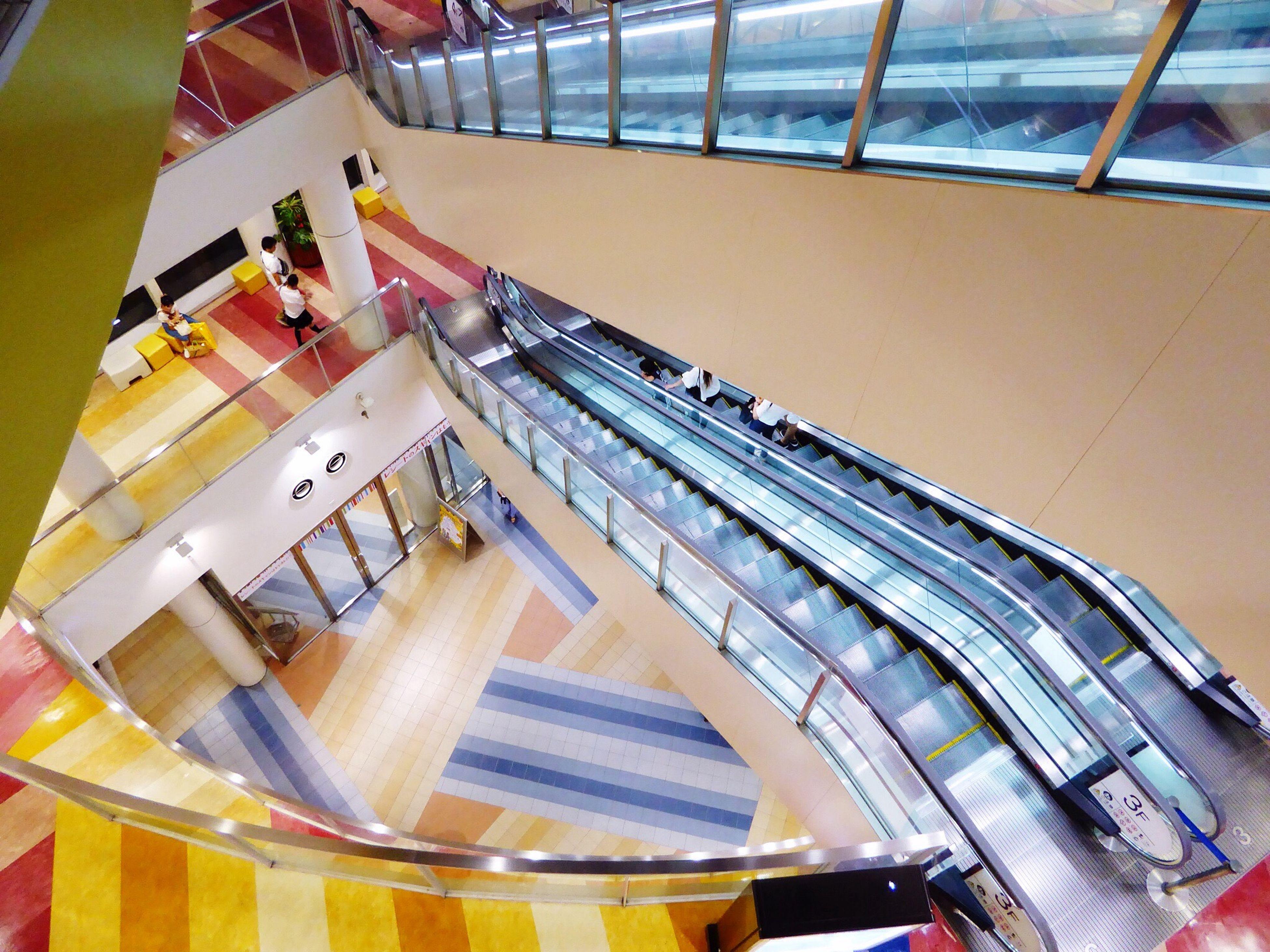 indoors, railing, day, retail