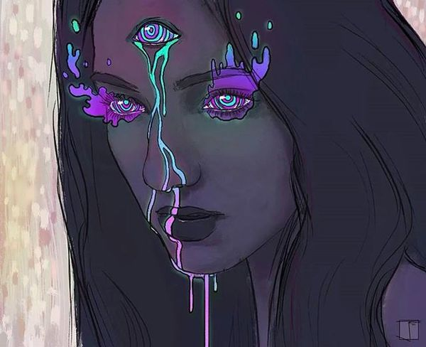I saw you in my minds eye.. The same one you saw me with.. Astral Hollow Heart ThirdEye Soul Connection Moonstar Goddess