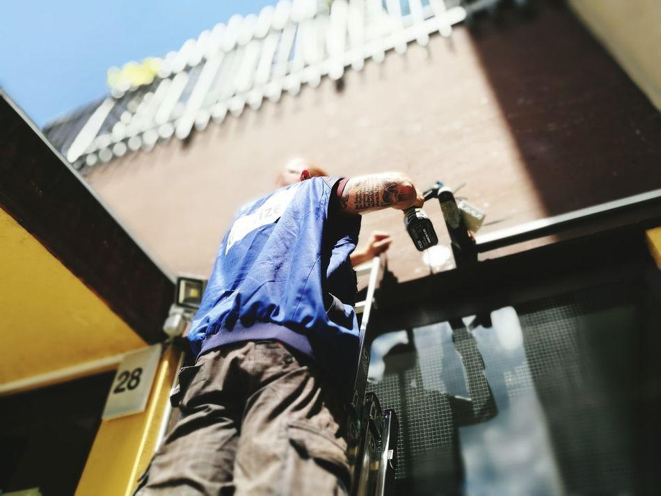 Working Hard Cctv Security Montage Kamera überwachung Sicherheit