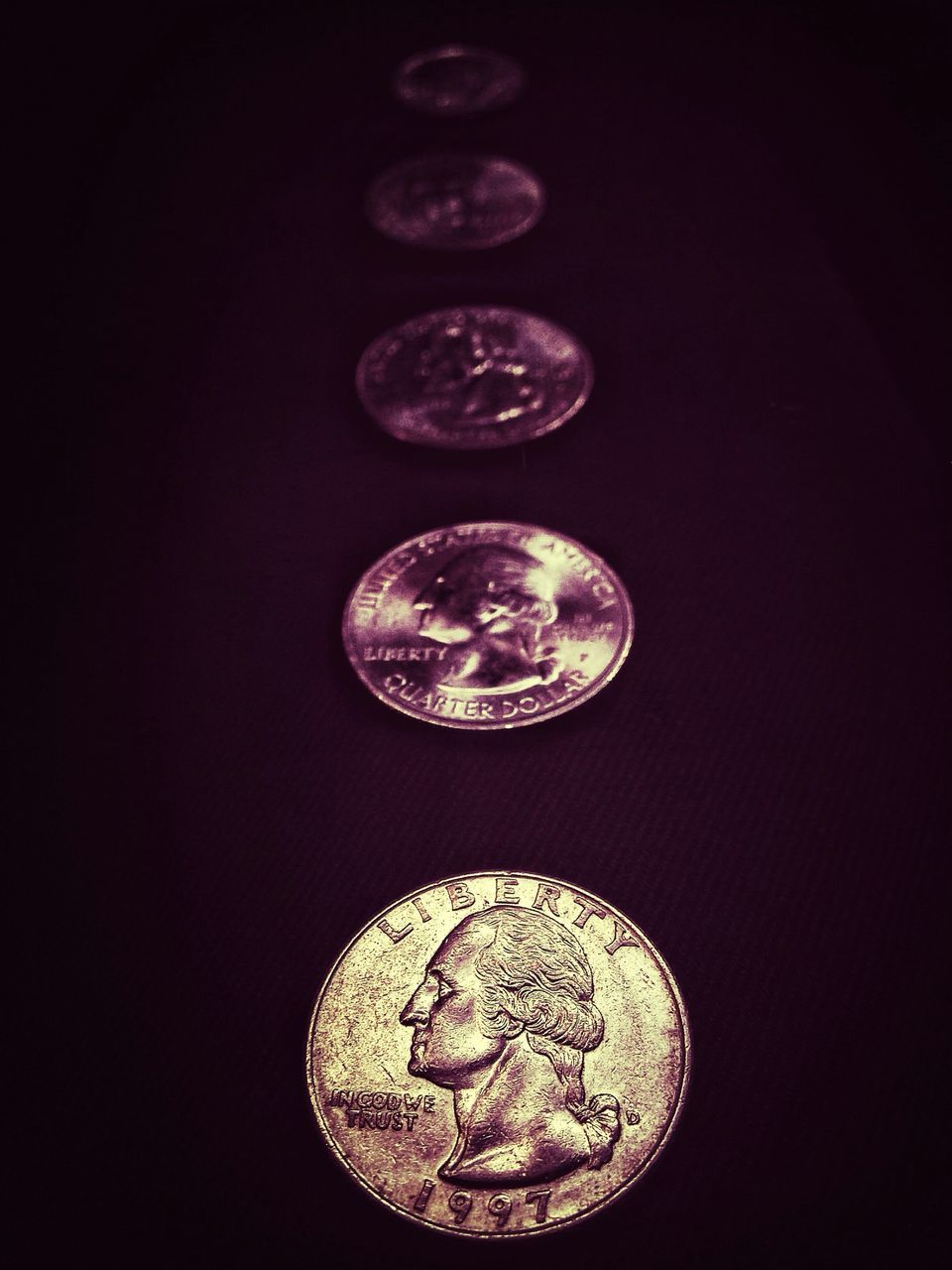 black background, coin, wealth, studio shot, no people, close-up, currency, indoors, day