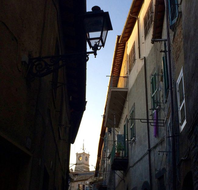 Architecture Bracciano Building Exterior Built Structure City City Life Cityscapes Italia Italy Lamp Lookingup Medieval Medieval Architecture No People Old Buildings Old Town Old-fashioned Play With The Light Streetlights Sunset Urban Geometry Window Windows