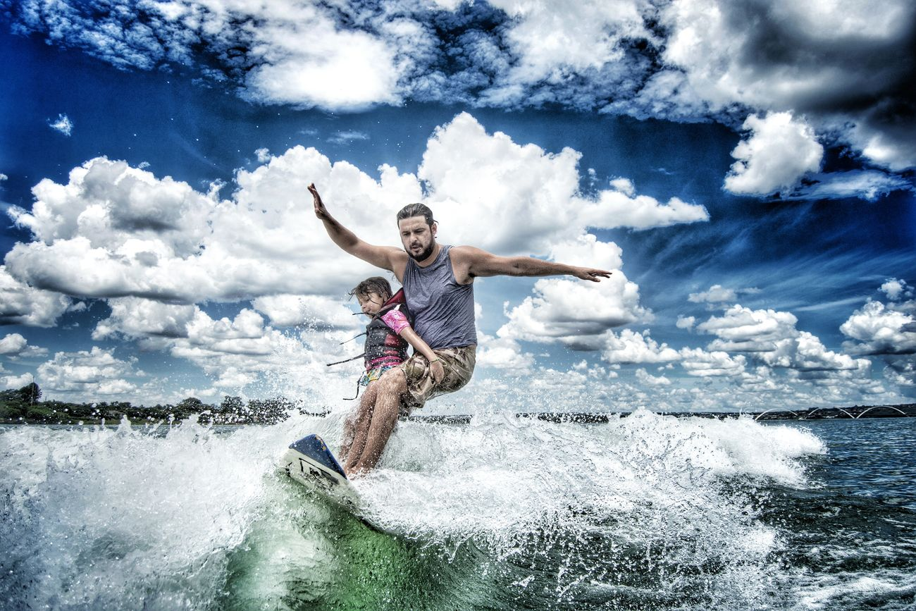 Wakeboarding Surf Vacations Cloud - Sky Looking At Camera Child Travel Destinations Summer Leisure Activity Multi Colored Outdoors Fun Portrait People Cheerful Water Cloudscape Sport Sky Brazil Brasília Lago Paranoa Wakesurf Wakesurfing Surfing