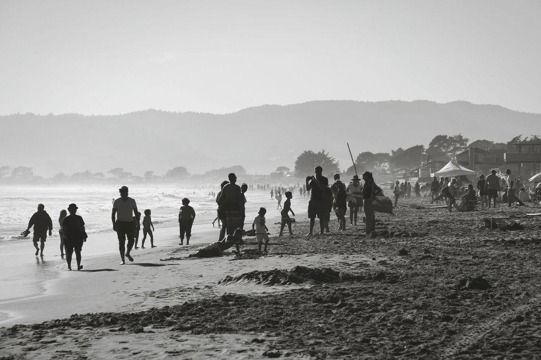 Showcase June Eyeem Collection EyeEm Best Shots - People + Portrait Beachday Summer Is Here Sunny Day Enjoying People Life Is A Beach California Summer Black & White Grayscale EyeEm Best Shots - Black + White