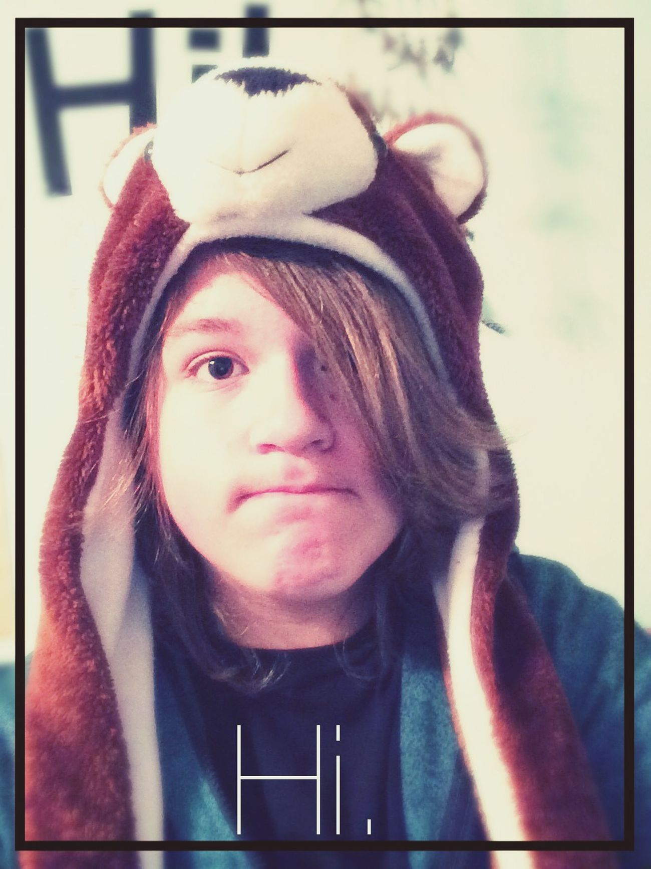Hat. Bear Hat Im A Guy Yeah.