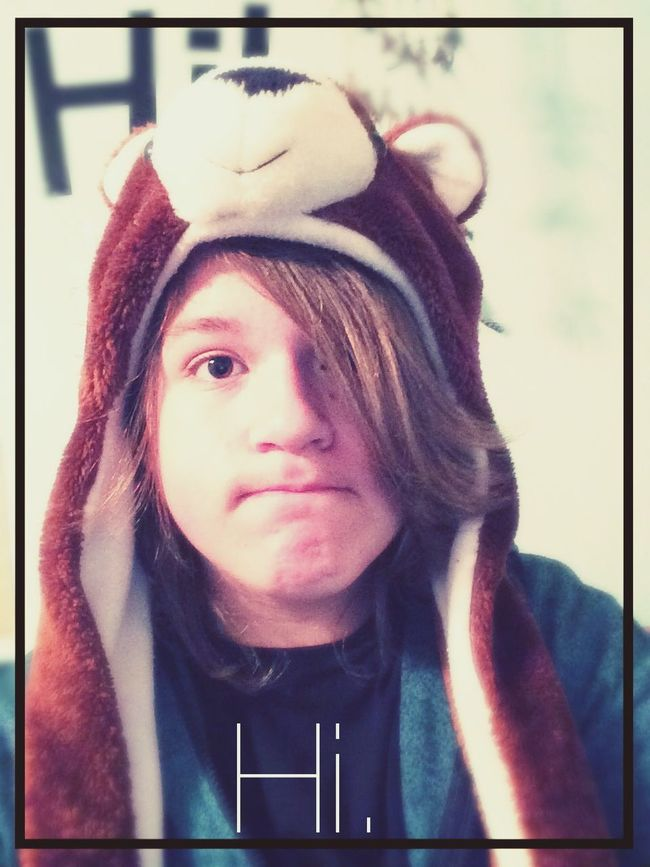 Hat. Bear Hat Im A Guy Yeah.