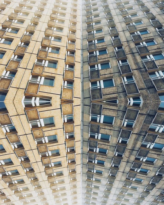 Abstract Architecture Building Exterior Composition Modernism Modificada Poznań Repetition Window