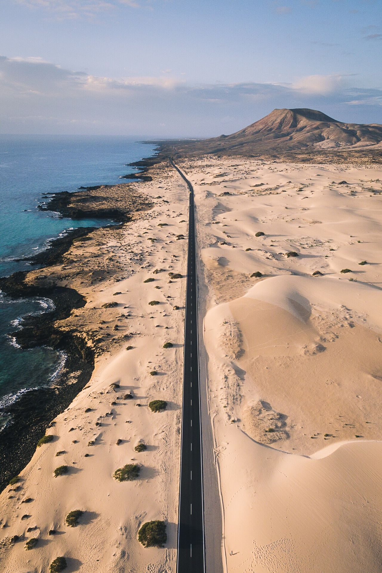 Nature Scenics Beauty In Nature Sand Aerial View Water Sky Outdoors Sand Dune Beach Landscape Dronephotography Drone  Aerial Shot Aerial Photography Ocean Road Fuerteventura Check This Out OpenEdit EyeEm Best Shots EyeEm Nature Lover EyeEm Gallery Market Photography Fresh On Market 2016