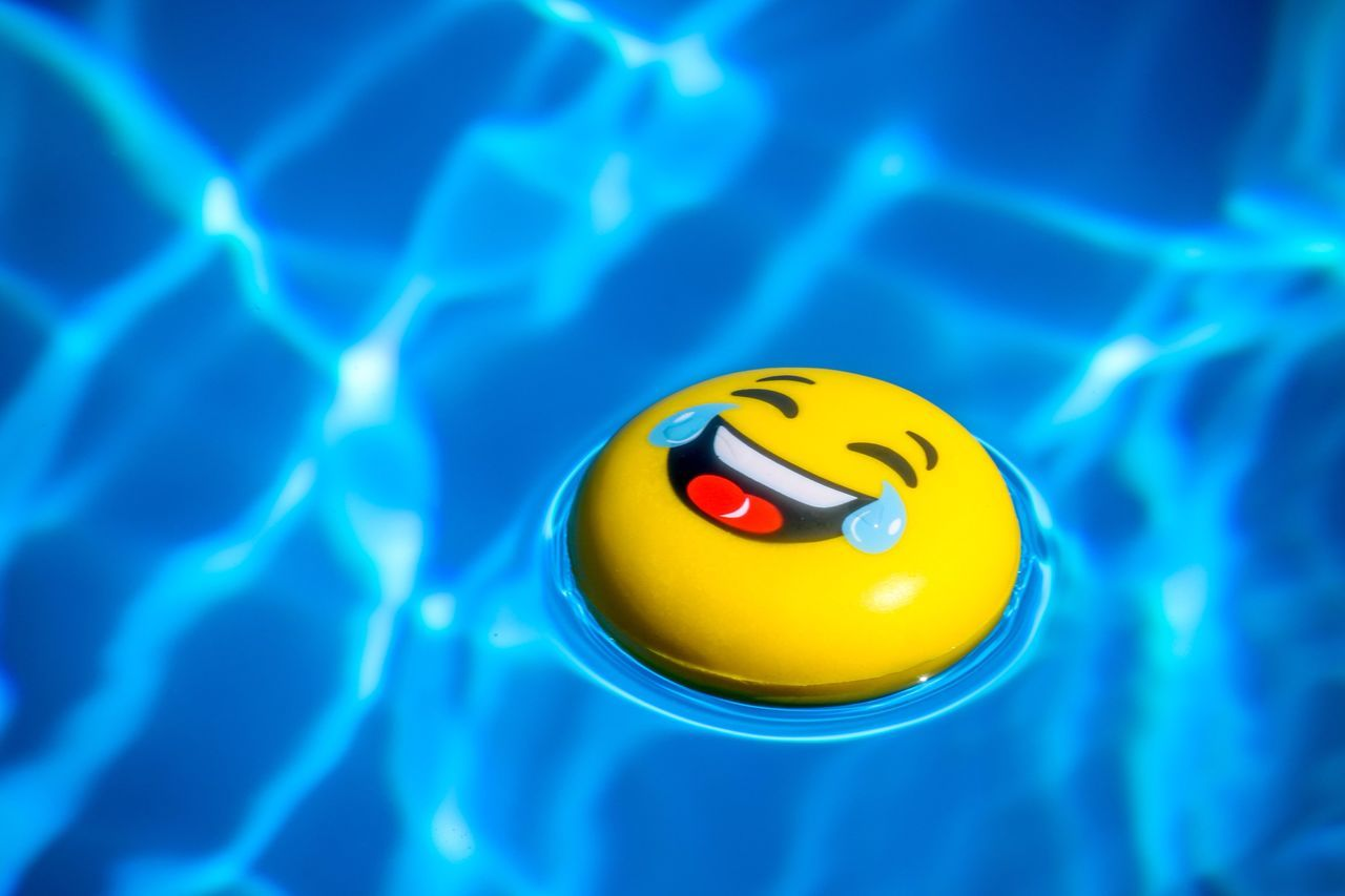Blue No People Close-up Day Outdoors Holiday Summer Antistress Laughing Laugh Swimming Pool Water Yellow Sunlight Smiley Face Lefkada Sea Water Park Greece
