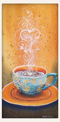 Fall coffee mug painting Stephenlursenart