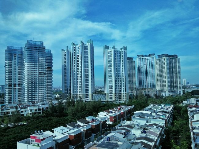 The Great Outdoors With Adobe Skyscraper Blended Blue Blues Bluesky Kemayoran