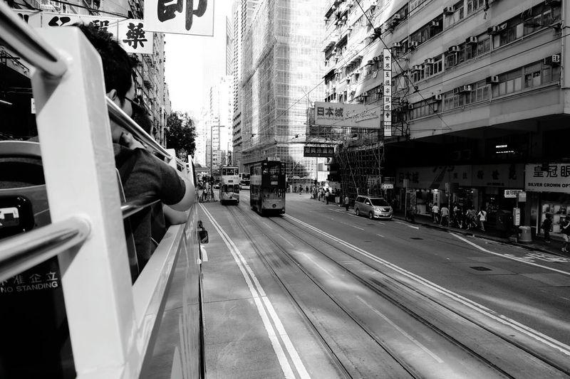 HongKongtram Black And White Travel