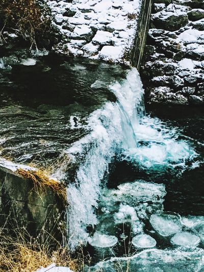 Water Nature Outdoors Day No People Tranquility Motion Beauty In Nature Scenics Cold Temperature