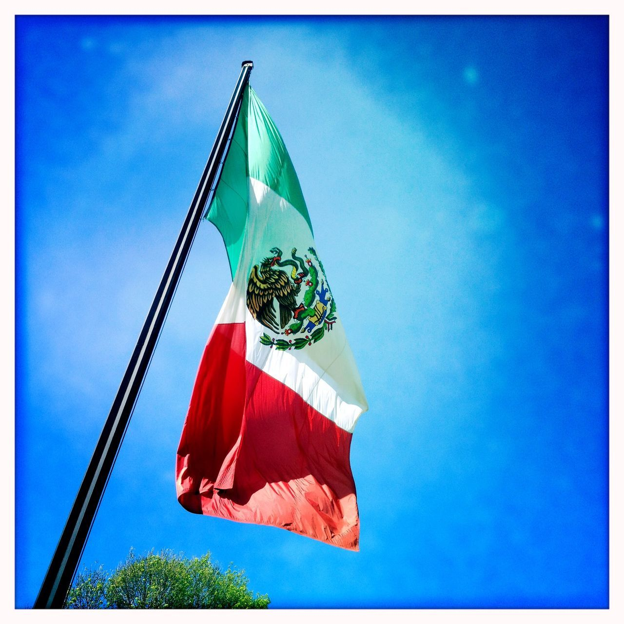 Beautiful stock photos of mexican flag, Auto Post Production Filter, Blue Sky, Day, Flag