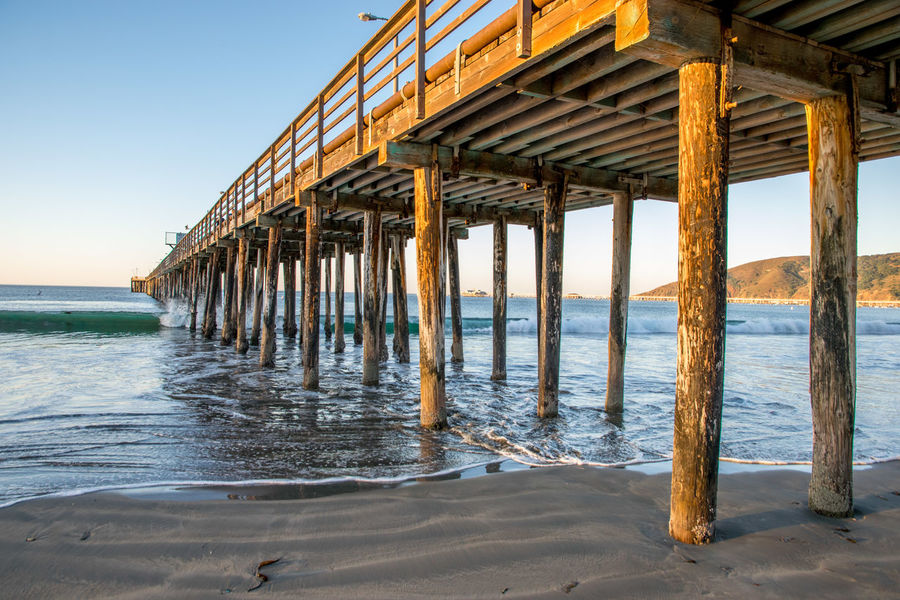 Avila Beach CA Pier Architecture Beach Beauty In Nature Day Horizon Over Water Nature No People Outdoors Pier Sand Scenics Sea Shore Sky Underneath Water
